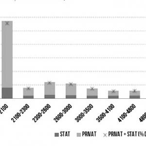 Figura 4. Distribuția contractelor de muncă pe intervale de salariu, Raportul Syndex - 2019