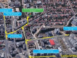 foto DASM pe harta